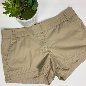 J Crew Chino Khaki Shorts -  100% Cotton Sz 8